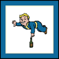 Fallout Cross Stitch Pattern Agility Perk