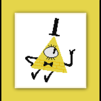 Gravity Falls Cross Stitch Pattern Bill Cipher
