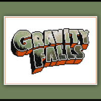 Gravity Falls Cross Stitch Pattern Logo