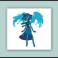 Steven Universe Cross Stitch Pattern Lapis Lazuli