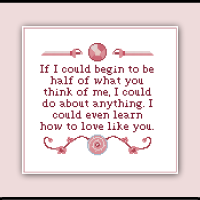 Steven Universe Cross Stitch Pattern Rose Quartz Ending Theme Sampler