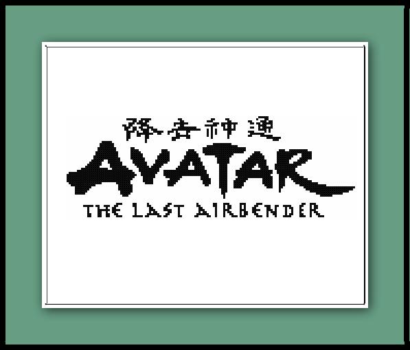 Avatar Logo: Avatar The Last Airbender Cross Stitch Pattern Logo