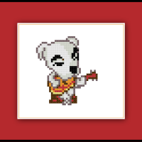 Animal Crossing Cross Stitch Pattern KK Slider