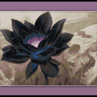 Magic the Gathering Cross Stitch Pattern Black Lotus Card