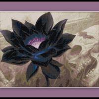 Magic the Gathering Cross Stitch Pattern Black Lotus Card