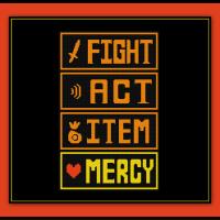 Undertale Cross Stitch Pattern Fight and Mercy Battle Screen