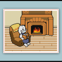 Undertale Cross Stitch Pattern Toriel's Reading Chair