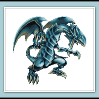Free Blue Eyes White Dragon Cross Stitch Pattern Yu-Gi-Oh