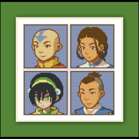 Free Avatar the Last Airbender Cross Stitch Pattern Cast Portraits