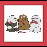 We Bare Bears Cross Stitch Pattern