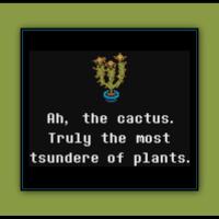 Free Undertale Cross Stitch Pattern Toriel's Tsundere Cactus