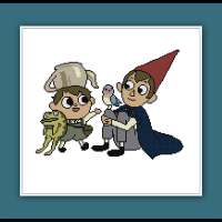 Free Over the Garden Wall Cross Stitch Pattern Wirt and Greg