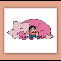 Free Steven Universe Cross Stitch Pattern Steven and Lion