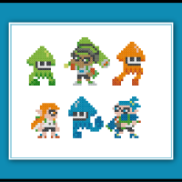 Free Splatoon Cross Stitch Pattern Inklings