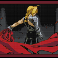 Free Fullmetal Alchemist Cross Stitch Pattern Edward Elric