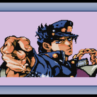 Free Jojo's Bizarre Adventure Cross Stitch Pattern Jotaro Kujo and Review