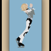 Free Yuri on Ice Cross Stitch Pattern Yuri Plisetsky and Review