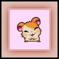 Free Hamtaro Cross Stitch Pattern