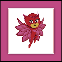 Free PJ Masks Cross Stitch Pattern Owlette
