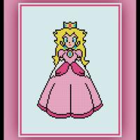 Free Princess Peach Cross Stitch Pattern Mario