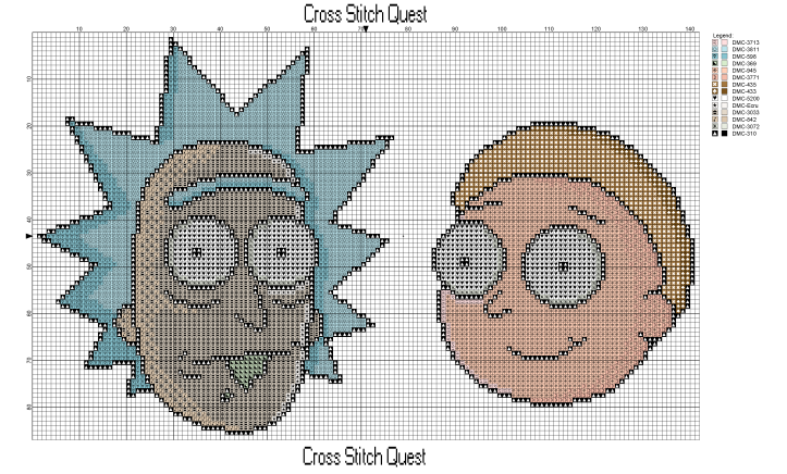 Rick And Morty Heads Pattern_Page_1