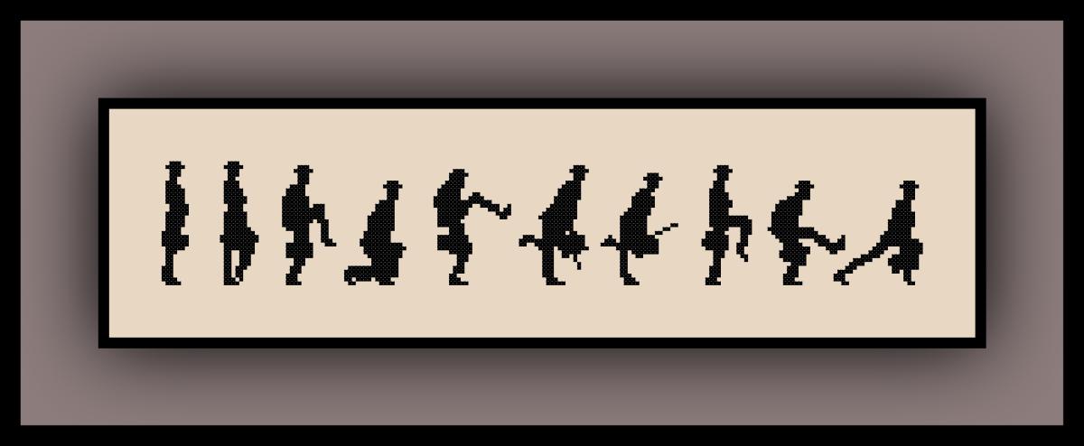 Free Monty Python Cross Stitch Pattern Ministry of Silly Walks