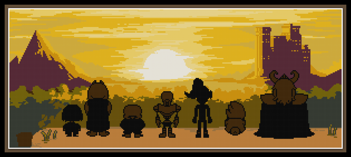 Patreon Only Undertale Cross Stitch Pattern True Pacifist Ending