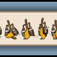 Free Disney's Fantasia Cross Stitch Pattern The Sorcerer's Apprentice Brooms