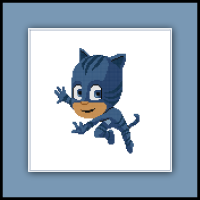 Free Catboy Cross Stitch Pattern PJ Masks