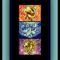 Free Eeveelutions Cross Stitch Pattern Pokemon Jolteon, Flareon, and Vaporeon