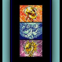 Free Eeveelutions Cross Stitch Pattern Pokemon Jolteon, Flareon, and Vaporeon