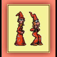 Free Discworld Cross Stitch Pattern Rincewind and Game Review