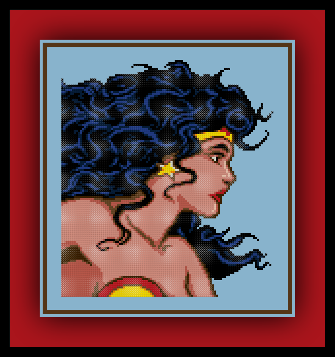 Free Classic Wonder Woman Cross Stitch Pattern and Review