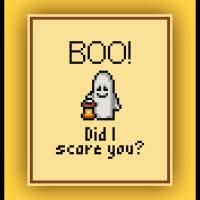 Free Lego Ghost Cross Stitch Pattern Halloween