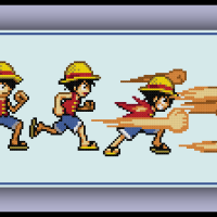Free Luffy Cross Stitch Pattern One Piece