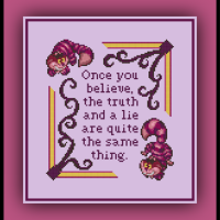 Free Cheshire Cat Cross Stitch Pattern Quote