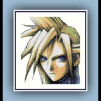 Free Final Fantasy 7 Cross Stitch Pattern Cloud Strife