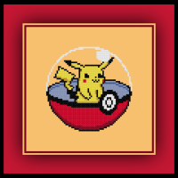 Free Pikachu Cross Stitch Pattern Pokemon Pokeball