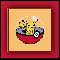 Free Pikachu Cross Stitch Pattern Pokemon Pokeball