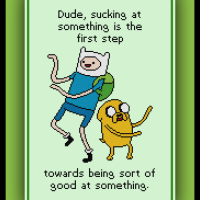 Patreon Only Adventure Time Cross Stitch Pattern Finn and Jake Quote