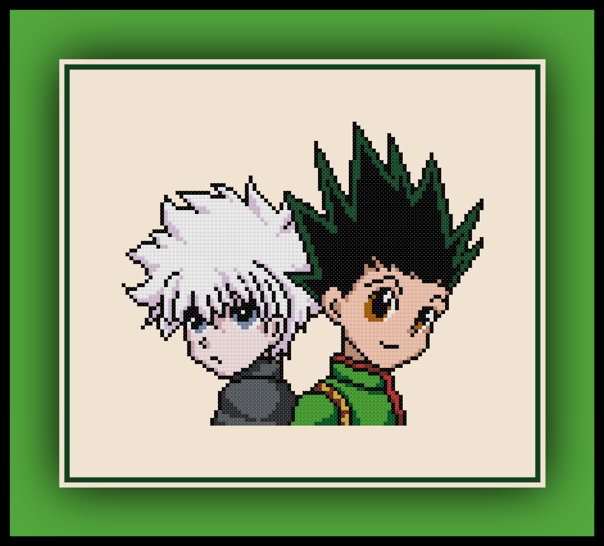 Patreon Only Hunter X Hunter Cross Stitch Pattern Gon and Killua