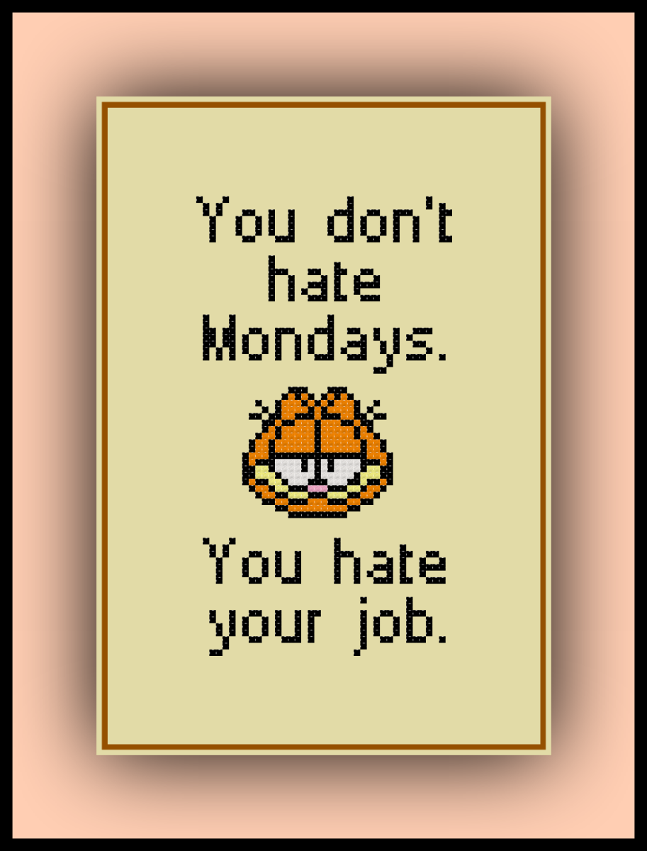 Free Garfield Cross Stitch Pattern Mondays