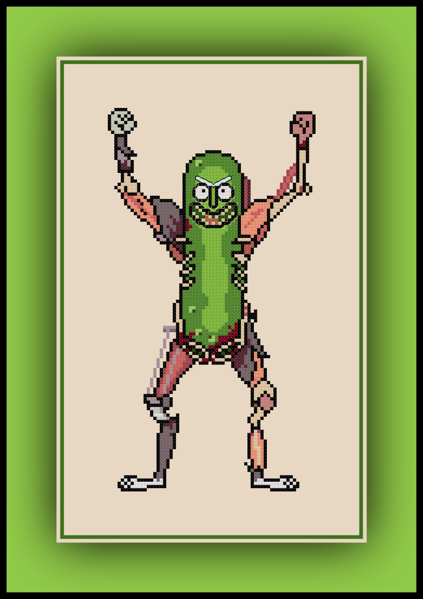 Patreon Only Pickle Rick Cross Stitch Pattern Rick and Morty