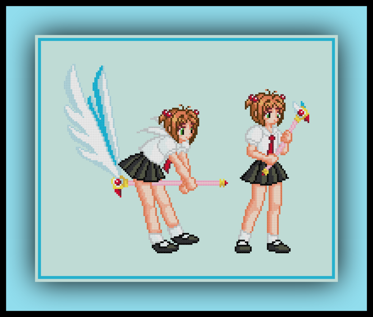 Free Cardcaptor Sakura Cross Stitch Pattern Fly