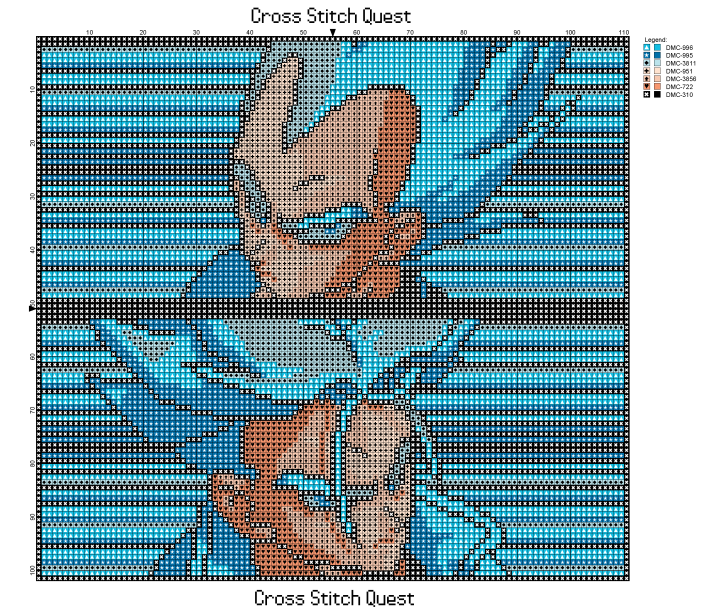 Trunks and Vegeta Pattern_Page_1