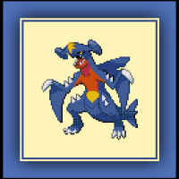 Free Garchomp Cross Stitch Pattern Pokemon