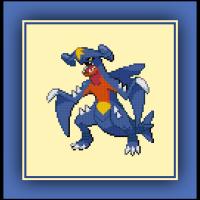 Free Garchomp Cross Stitch Pattern Pokemon