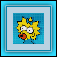 Free Maggie Simpson Cross Stitch Pattern The Simpsons