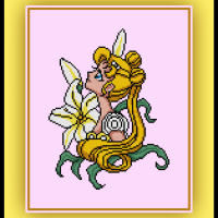 Patreon Only Princess Serenity Cross Stitch Pattern Sailor Moon