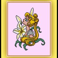 Patreon Only Princess Serenity Cross Stitch Pattern Sailor Moon